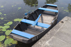 Rowing boat for rent. Rowing boat for rent in Klein Giethoorn in Hazerswoude, Netherlands Stock Photo