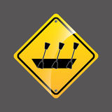 Rowing boat sign sport extreme design Stock Images