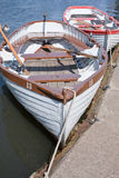 Rowing Boats. Moored in a lake Royalty Free Stock Photography