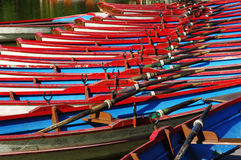 Rowing boats of Daumesnil lake in Paris Stock Photography