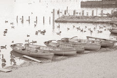 Rowing Boats on Derwent Water, Keswick, Lake District Royalty Free Stock Photography