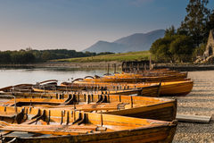 Rowing boats on Derwent Water Royalty Free Stock Images