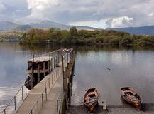 Rowing boats on Derwentwater Royalty Free Stock Photo