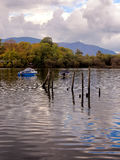 Rowing boats on Derwentwater Stock Images