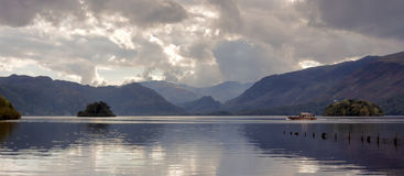 Rowing boats on Derwentwater Stock Image