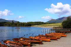 Rowing boats, Derwentwater, Keswick, Lake District Royalty Free Stock Photography