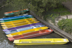 Rowing Boats for Hire, Oxford Stock Images