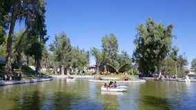 Rowing boats lake park Alegre Arequipa Peru