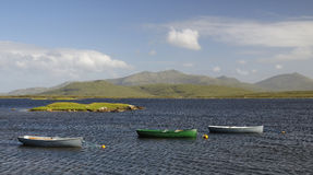 Rowing Boats on Loch Bi Royalty Free Stock Image