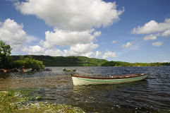 Rowing Boats on Lough Inchiquin Stock Photography