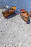 Rowing Boats moored at Boweness on Windermere, Lake Windermere. Royalty Free Stock Image
