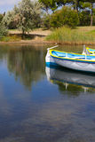 Rowing boats on the pond Stock Photography