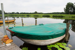 Rowing boats in river Stock Images
