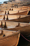 Rowing Boats in a row stock photo