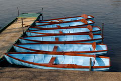 Rowing boats Royalty Free Stock Photo