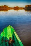 Rowing boats in Russian district floats to the coast Stock Images