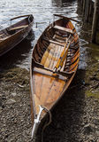 Rowing boats on shore of Derwent Water, Keswick. Royalty Free Stock Photos