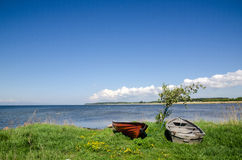 Rowing boats Royalty Free Stock Images