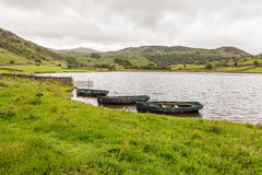 Rowing Boats at Watendlath Tarn, English Lake District, Cumbria, England. Royalty Free Stock Images