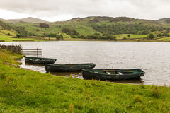 Rowing Boats on Watendlath Tarn. Watendlath, English Lake District. Stock Images