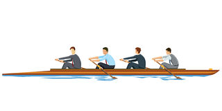 Rowing businessmen Royalty Free Stock Photography