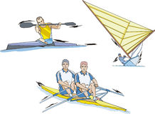 Rowing, Canoeing and Sailing Stock Photography