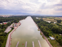 Rowing channel in Plovdiv Stock Image