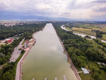 Rowing channel in Plovdiv Royalty Free Stock Photography