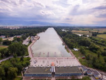 Rowing channel in Plovdiv Stock Images