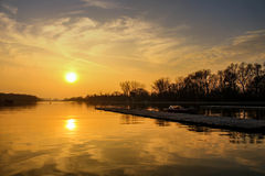 Rowing channel Plovdiv Stock Photography