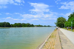 Rowing channel ,Plovdiv Royalty Free Stock Photography