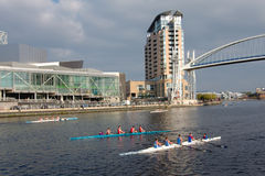 Rowing Boat Race in Manchester, England Royalty Free Stock Images