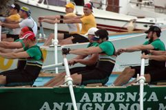Rowing competition Royalty Free Stock Photos