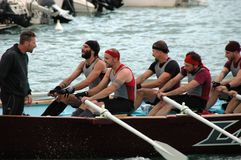 Rowing competition Royalty Free Stock Images