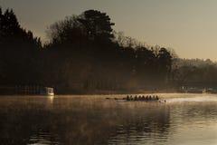 Rowing at dawn Royalty Free Stock Photo