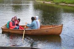 Rowing in Dedham Valey Stock Photo