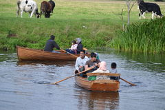 Rowing in Dedham Valey Stock Image