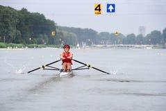 Rowing del Skiff imagenes de archivo
