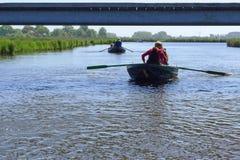 Rowing in the Eilandspolder Royalty Free Stock Photos