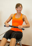 Rowing Exercise In The Sportclub Stock Image