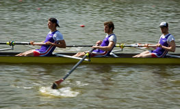 Rowing game Stock Images