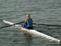 Rowing girl Royalty Free Stock Photos