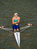 Rowing girl Royalty Free Stock Image