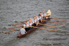 Rowing histórico - 100a raza del rowing de Primatorky Foto de archivo
