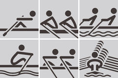 Rowing icons Royalty Free Stock Photo
