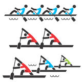 Rowing icons Stock Image