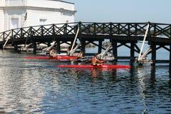 Rowing kayaks Royalty Free Stock Photo
