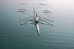 Rowing on the lake Royalty Free Stock Photos