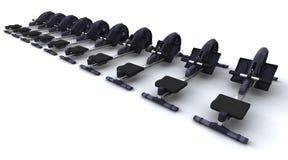 Rowing machine Stock Photo