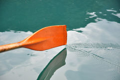 Rowing oar. Dripping water in wave form Stock Photography